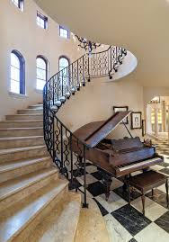 Grand Stairs Design Grand Design Staircase Mediterranean With Marble Stairway White Walls