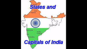 Map Of The Usa With Capitals by States U0026 Capitals Of India U0027s Youtube