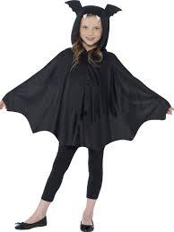 kids black hooded bat cape costume girls boys halloween fancy