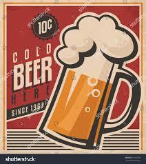 retro beer vector poster vintage ad stock vector 171901694