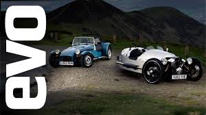 caterham seven 160 vs morgan 3 wheeler evo track battle youtube