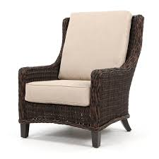 ebel geneva wicker patio club chair chestnut
