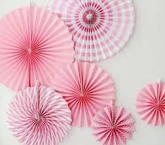 paper fan paper fan set of 6 baby pink princess sunlife durian puffs