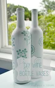 Diy Plastic Bottle Vase Diy Wine Bottle Vases Tulips U0026 A Terrier
