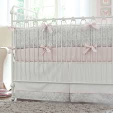 Damask Crib Bedding Sets Coral Pink Bedding Solid Baby Bedding Sets Solid Pink Crib