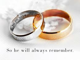 engraved wedding rings common engravings