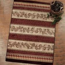 Pine Cone Area Rugs Lodge Throw Rugs Rustic Rugs Cabin Rugs And Lodge Area Rugs