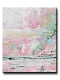 Modern Art Home Decor Giclee Print Art Abstract Pink White Painting Modern Wall Art