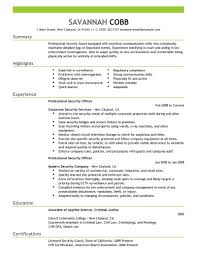 Resume Sample Format For Seaman by Security Resume Template Free Resume Example And Writing Download