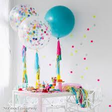 jumbo balloons jumbo confetti balloon with 5 tassels build your own helium