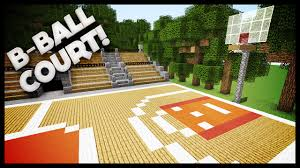 minecraft how to build a basketball court youtube