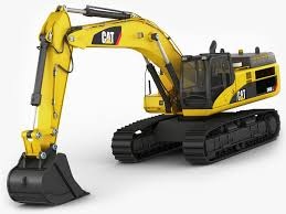 excavator cat 345 dl 3d model in machines3dexport