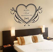 Wall Bedroom Stickers Custom Made Couple Name Walll Stickers Personalized Heart Wedding