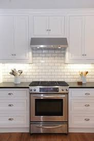 White Backsplash For Kitchen by How To Finish The Side Of A Subway Tile Shower Google Search