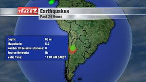 South America Satellite Map by Earthquake Schnack U0027s Weather Blog
