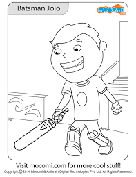 batsman jojo colouring page colouring pages for kids mocomi