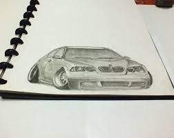 bmw e46 sketch pencil by lambangart on deviantart