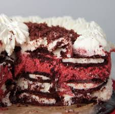 red velvet oreo cheesecake icebox cake boston bakes