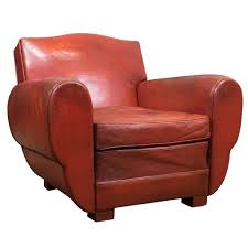 Leather Club Chair Superb French Vintage Red Leather Club Chair At 1stdibs