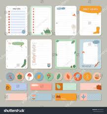 To Do Stickers Cute Daily Calendar Do List Template Stock Vector 483152275