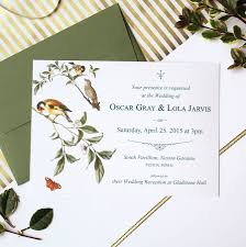 garden bird wedding invitation suite by vanilla retro stationery