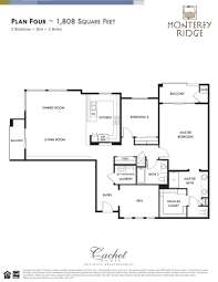 2 Bedroom Condo Floor Plans Floor Plan Four North Scottsdale Area Condo