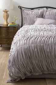 Purple Ruffle Comforter Look For Less Alert Gray Ruched Comforter Brooklyn Limestone