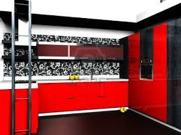 Black And Red Kitchen Ideas Kitchen Astonishing Decoration Spacious Black White Style