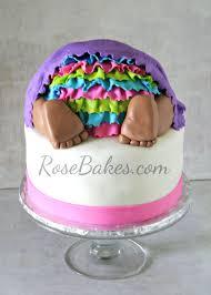 baby bottom cake rose bakes