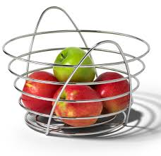 wire fruit bowl in bread and fruit baskets