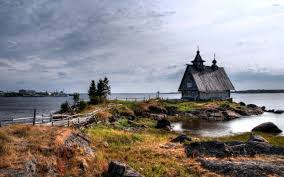 Smallhouse by Old Small House On The Rocky River Shore Wallpaper World