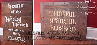 fall halloween images diy wooden sign for fall double sided for halloween and