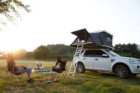 Hardtop Awnings For Trailers Versatile Hardtop Pop Up Tent Camper Mounts To The Roof Of Your