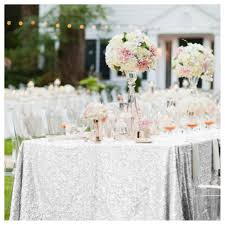 wedding linens for sale on sale sparkly 60x84in silver sequin tablecloth table cloth for