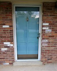 How To Paint An Exterior Door Painted Metal Door And Front Door Home Improvement