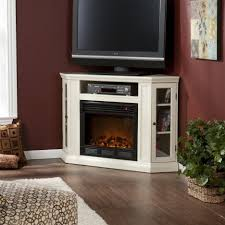 white corner electric fireplace entertainment center fireplaces