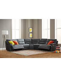 Macys Sectional Sofas by Caruso Leather 5 Piece Power Motion Sectional Sofa Furniture