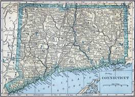 Old United States Map by Large Old Map Of Connecticut State With Roads And All Cities