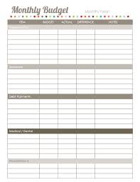 home finance printables the harmonized house project worldlabel