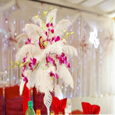 white ostrich feather centerpieces new 10 pcs wholesale quality natural ostrich feathers