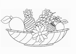 cool basket of fruits coloring pages fruit page thanksgiving