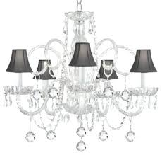 Mini Shade Chandelier Shade Chandelier With Crystals U2013 Eimat Co