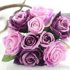 silk flowers for wedding bridal wedding bouquets 9 heads flower silk flowers