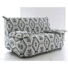 housse pour canapé bz housse bz motif triangles coton becquet gris becquet linge de