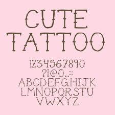 cute tattoo font dafont com