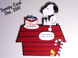 snoopy birthday card by punkbouncer on deviantart