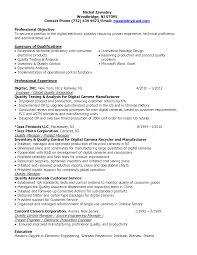 Electronic Engineering Resume Sample Quality Control Engineer Resume Sample Gallery Creawizard Com