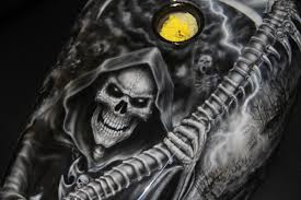 custom paint and airbrushing of grim reapers automotive tattoos