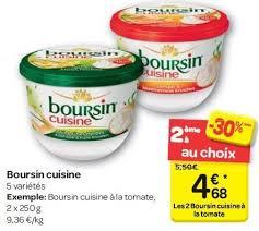 boursin cuisine carrefour promotion boursin cuisine boursin boursin fromage