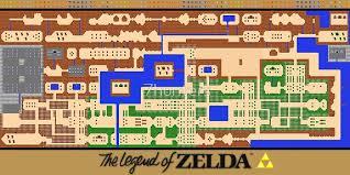legend of zelda map with cheats legend of zelda map poster retro nes popular restoration canvas